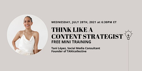 Think Like A Content Strategist Tickets