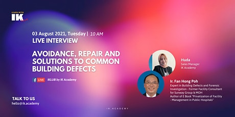 Avoidance, Repair and Solutions to Common Building Defects! tickets