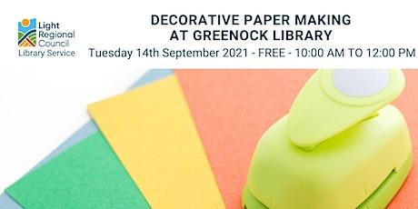 Decorative Paper Making @ Greenock Institute tickets