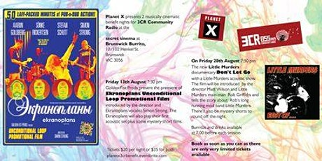Planet X cinematic benefit nights for 3cr Community Radio tickets