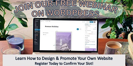 Free Webinar: How to Design & Promote Your Own Website tickets