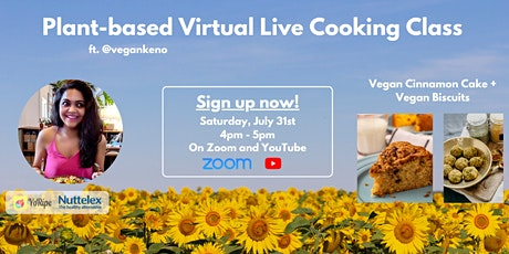 Plant-based Virtual Live Cooking Class ft. @vegankeno tickets