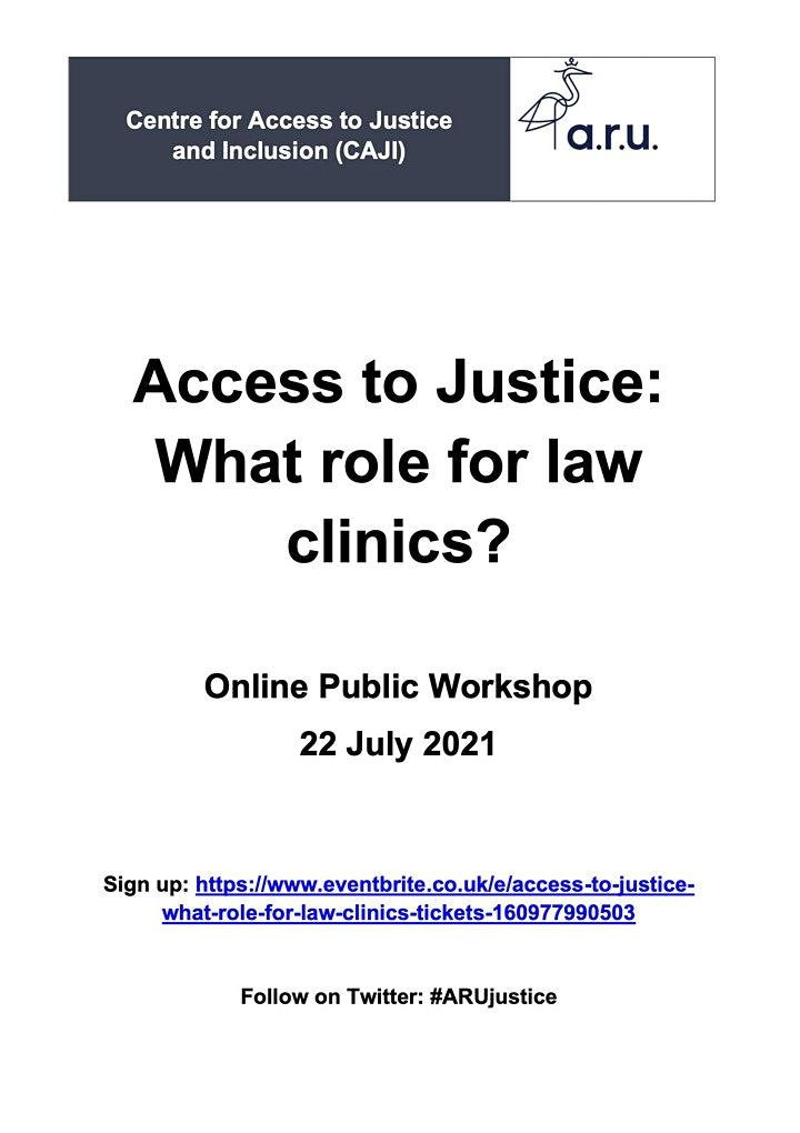 Access to Justice: What role for law clinics? image