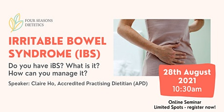 Irritable Bowel Syndrome - What is it and how to manage? tickets