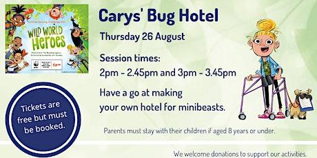 Cary's Bug Hotel at Lymington Library tickets