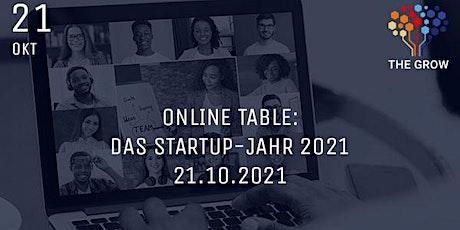 Online Table: Das Startup-Jahr 2021 Tickets