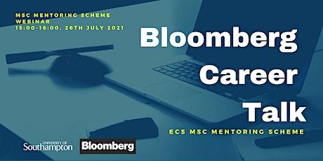 BLOOMBERG ECS Mentoring Scheme Career Talk event biglietti