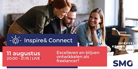 Inspire & Connect LIVE | 11 augustus | Excelleren als freelancer tickets