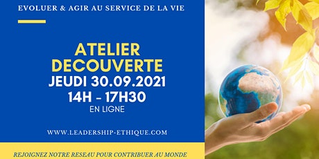 Atelier Découverte du Leadership Ethique - jeudi 30 septembre 2021 billets