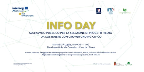 INFODAY – Avviso Pubblico del progetto Blue Crowdfunding - INTERREG-MED biglietti