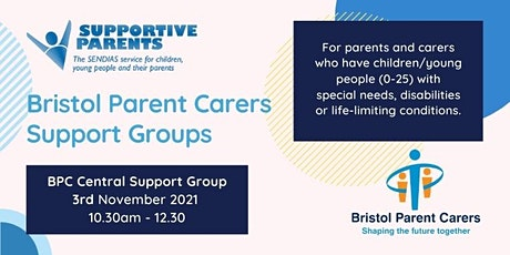 Central Bristol Parent Carer Forum Group - Wednesday 3rd November 2021 tickets