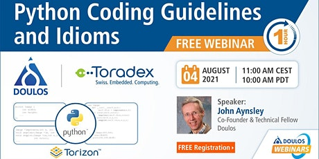 Webinar: Python Coding Guidelines and Idioms tickets