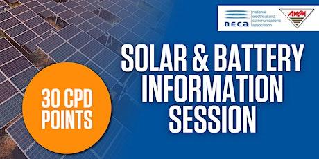 NECA  & AWM Solar & Battery Information - Traralgon tickets