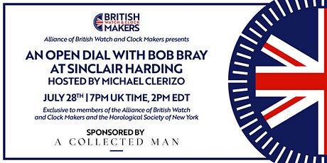 Open Dial 2 with Bob Bray at Sinclair Harding, hosted by Michael Clerizo tickets