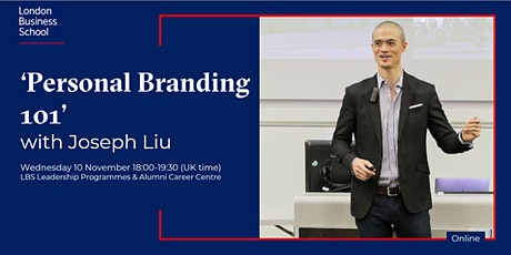 'Personal Branding 101' with Joseph Liu billets