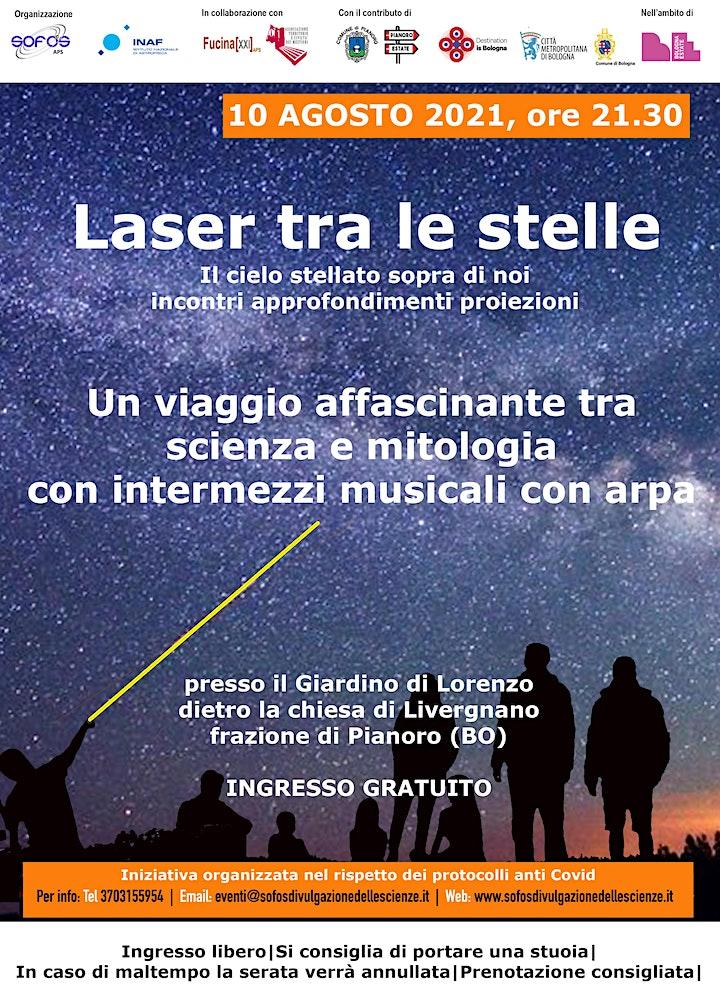 Immagine Laser tra le stelle - Giardino di Lorenzo - Livergnano  (Pianoro)- 10/08/21