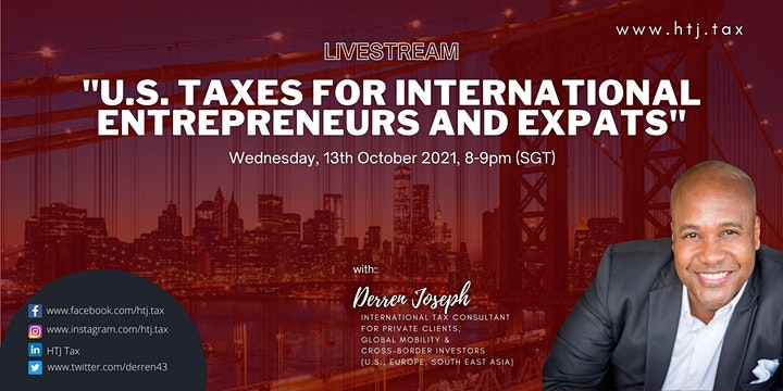 (LIVESTREAM) U.S. TAXES FOR INTERNATIONAL ENTREPRENEURS AND EXPATS image
