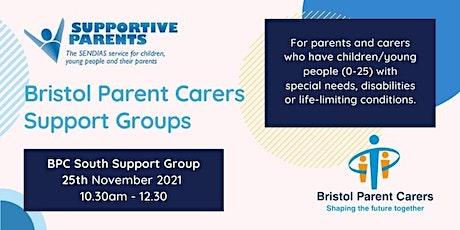 South Bristol Parent Carer Forum Group - Thursday 25th November 2021 tickets