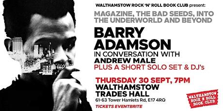 An Evening with BARRY ADAMSON tickets