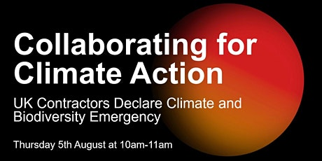 UK Contractors Declare: Collaborating for Climate Action tickets
