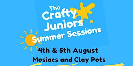 Mosaics & Clay Pots :  The Crafty Juniors Summer Sessions tickets