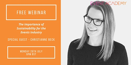 FREE WEBINAR: How To Approach Delivering Events in a Sustainable Way tickets