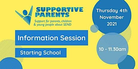 North Somerset Information Session: Starting School tickets
