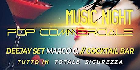 Saturday Music night DJ set pop commercial biglietti