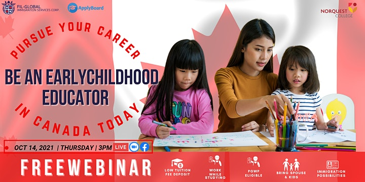 FREE WEBINAR:  BE AN EARLY CHILDHOOD EDUCATOR IN CANADA! image