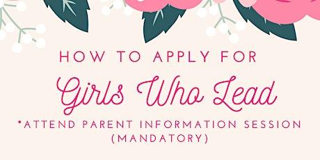 Lexington Girls Who Lead Parent Information Session tickets