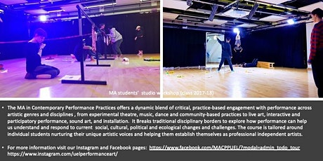 Open Class led by Contemporary Performance Practices Programme tickets
