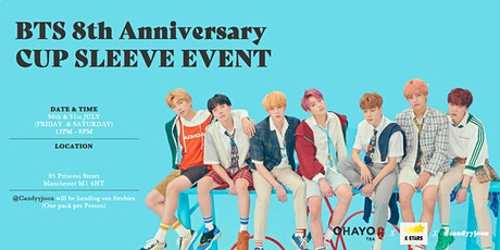 BTS 8th Anniversary Cup Sleeve Event in Manchester tickets