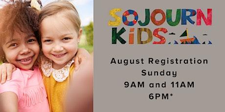 August 29, 2021  Sunday Service Registration tickets