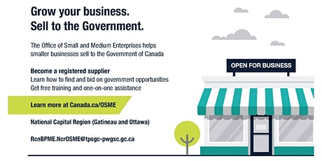 Doing business with the Government of Canada (webinar) biljetter