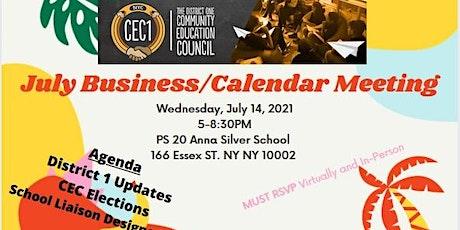 CEC 1 August Business/Calendar Meeting tickets