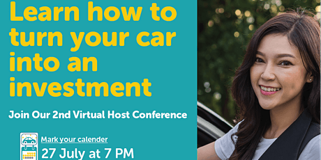 Drive lah's Virtual Host Conference - Turn Your Car Into an Investment tickets