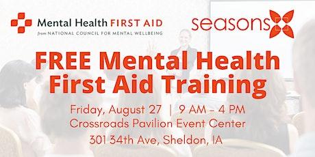 Mental Health First Aid      Sheldon tickets