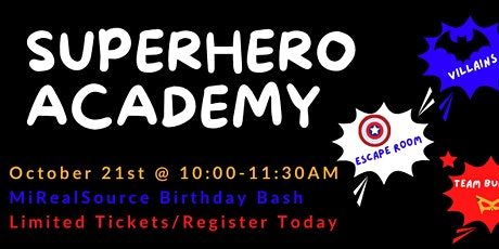 Superhero Academy Birthday Bash tickets