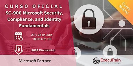 Curso SC-900  Fundamentos de Seguridad en Soluciones Microsoft boletos