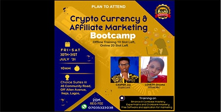 Crypto Currency & Affiliate Marketing Bootcamp tickets