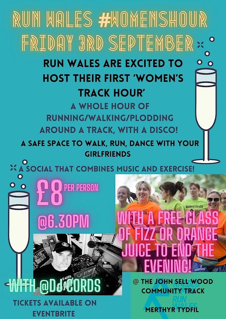 Women's Hour Track Session Merthyr Tydfil image