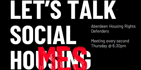 Aberdeen Housing Rights Defenders Meeting tickets