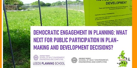 What next for public participation in plan-making & development decisions? tickets