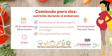 Comiendo para dos: nutrición durante el embarazo (Virtual) - Spanish ingressos