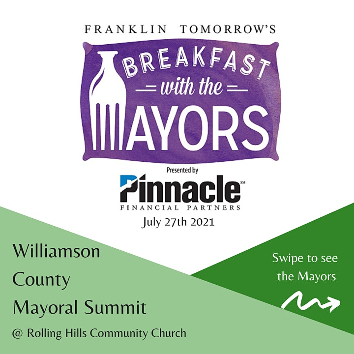 Franklin Tomorrow Breakfast With Mayors: Williamson County Mayoral Summit image