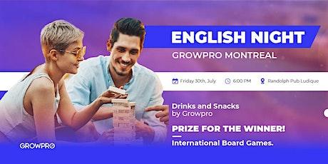 English Night de cerveza y juegos de mesa tickets