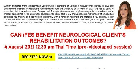 Can iFES benefit neurological client's rehabilitation outcomes? tickets