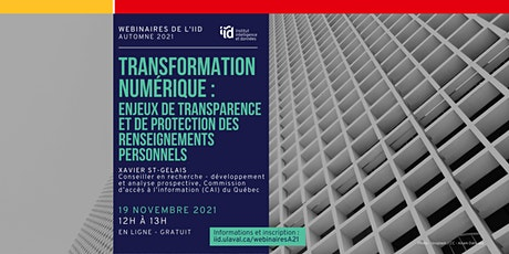 Enjeux de transparence et de protection des renseignements personnels billets