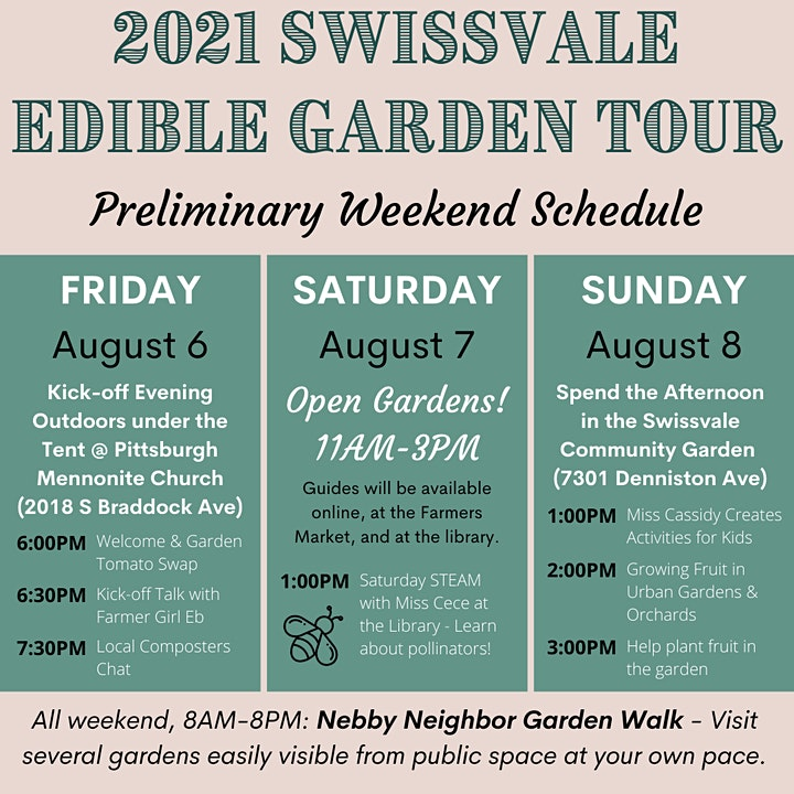 2021 Swissvale Edible Garden Tour image