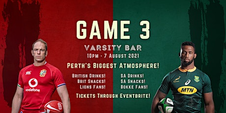 The Lions Tour Perth - Varsity Waterford (GAME 3) tickets